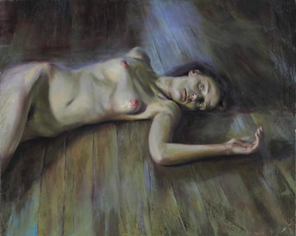 Γυμνό, 2008, Λάδι σε μουσαμά, 80 Χ 100 εκ.