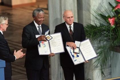 Βράβευση του Νέλσον Μαντέλα