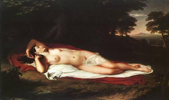 Μια σύγχρονη ζωγραφική απεικόνιση της Αριάδνης στη Νάξο, από τον Vanterlyn. Η Αριάδνη στη Νάξο ήταν ανά τους αιώνες ένα προσφιλές θέμα για μουσικούς και ζωγράφους σε ολόκληρο τον κόσμο.