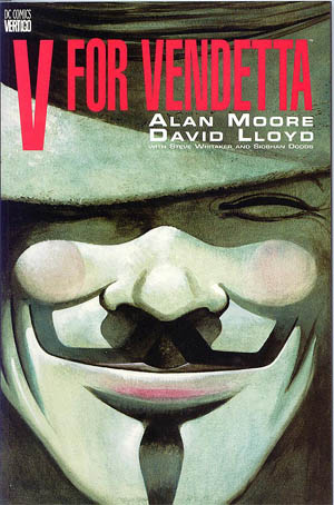 """Εξώφυλλο του κόμικ """"V for Vendetta"""""""