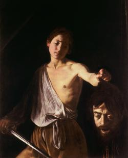 Ο Δαβίδ με το κεφάλι του Γολιάθ Καραβάτζιο