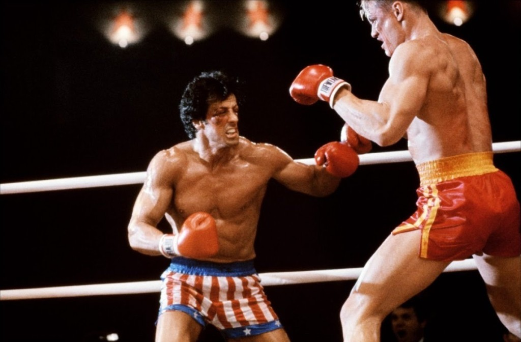 Ο Rocky στο ρίνγκ με τον Σοβιετικό πρωταθλητή Drago