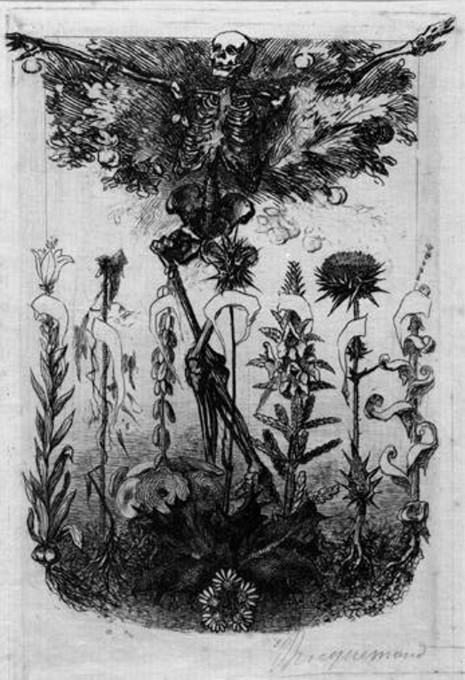 Les Fleurs du Mal ή Τα ανθη του κακου, του Σαρλ Μπωντλαίρ, λεπτομέρεια από το βιβλίο