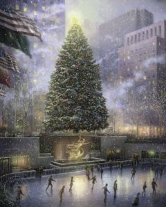 Thomas Kinkade, Χριστούγεννα στη Νέα Υόρκη, 2008, Ο χειμώνας ως έργο τέχνης
