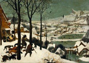 Πίτερ Μπρίγκελ ο Πρεσβύτερος, οι κυνηγοί στο χιόνι, 1565, Ο χειμώνας ως έργο τέχνης