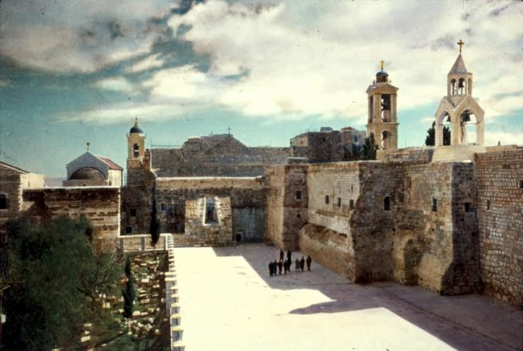 Βασιλική της Γέννησης- Εξωτερική άποψη του ναού