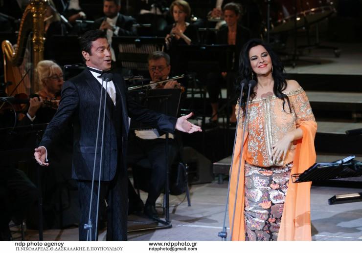 Angela Gheorghiu και Μάριος Φραγκούλης στο Ηρώδειο (Foto by Θωμάς Δασκαλάκης)
