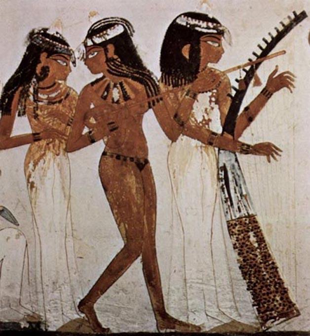 Αιγύπτιες μουσική σε τοιχογραφία του 14ου αιώνα π.Χ.
