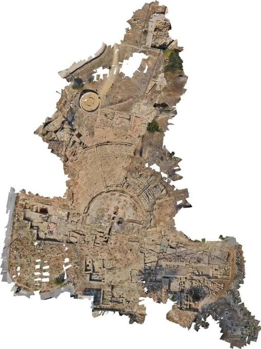 Κάτοψη του αρχαίου θεάτρου της Νέας Πάφου.